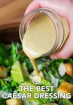 How To Make the Best Caesar Dressing Homemade Caesar salad dressing is so easy to make. this is THE BEST recipe, complete with step-by-step photos. Use it in pasta salad, a wrap, or — of course — to top a salad. Homemade Caesar Salad Dressing, Salad Dressing Recipes, Cesar Dressing, Ceaser Dressing Recipe, Ceaser Salad Recipe, Avacado Dressing, Best Salad Dressing, Ceasar Salat, Gourmet