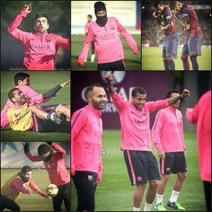 Funny barcelona players messi Neymar Alves pique