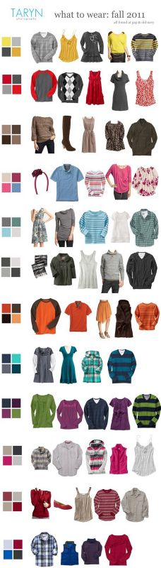 What to Wear for Fall Family Portraits: Use a color pallet, but don't go matchy-matchy. Only babies belong in light colors. Family Picture Colors, Family Picture Outfits, Fall Family Photos, Family Pictures, Fall Photos, Christmas Photos, Art Pictures, What To Wear Fall, How To Wear