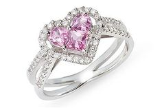 pink diamond engagement rings love