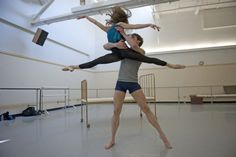 Alexandra Kochis and Robert Moore rehearse as Stella and Stanley for Pittsburgh Ballet Theatre's A Streetcar Named Desire, at the company's Strip District facility. (Andrew Russell | Tribune-Review)