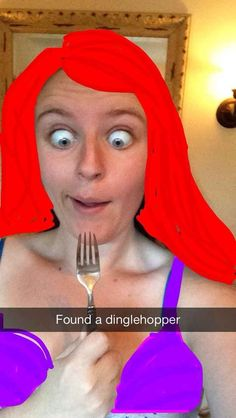 Ariel from The Little Mermaid | Hilarious Proof That Snapchat Can Turn Anyone Into A Disney Princess