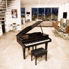 Roland Mini Grand Digital Piano Bundle - CG-1 Piano Living Rooms, Piano Room, True Homes, Digital Piano, Home Warranty, Grand Piano, Queen, Van Life
