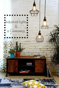 Art Decoration and Crafting: Industrial φωτιστικά & ένα giveaway!