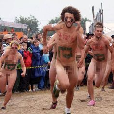 Naked festivals & events around world