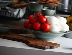 mozzarella e tomates frescos