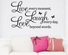 Laugh Love Removable Vinyl Wall Sticker Decal. Starting at $1 on Tophatter.com!