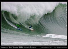 Mavericks Surf Contest 2008 - Greg Long & Jamie Sterling by jimgoldstein, via Flickr