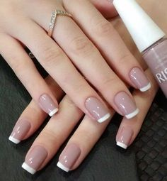 - beauty nails -- Eye Catching Beautiful Nail Art Ideas Shown beautiful is every woman's. - Eye Catching Beautiful Nail Art Ideas Shown beautiful is every woman's… French Manicure Nails, French Manicure Designs, French Nails, Gel Nails, Nail Polish, French Pedicure, Acrylic Nails, Manicure Ideas, French Polish