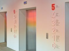 Elevator Signage - pretty!