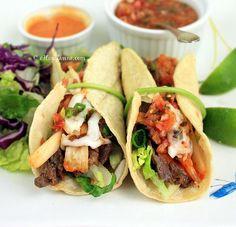 How To Make Taco Recipe : Korean Beef and Kimchi Tacos