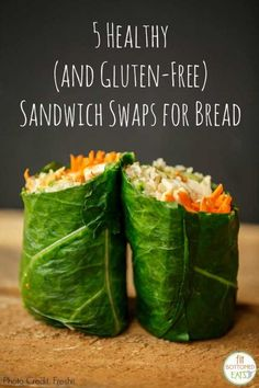 You're going to love these healthy, gluten-free swaps for bread on your next sandwich. | #recipe #Healthy @xhealthyrecipex |