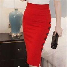 High Waist Pencil Skirts Women Plus Size Open Splice Elegant Las New Skirt Bodycon Knee