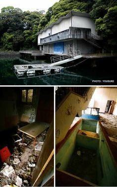Public Aquarium; Sasebo, Japan Abandoned Buildings arou