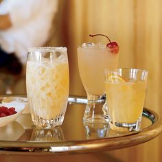 This version of a whiskey sour is based on a drink Cyrus Keyhari encountered at New York's Milk & Honey bar. It's a citrus-based drink that pairs well with Latin food; this one's designed for bourbon lovers. More Bourbon Cocktails Dessert Drinks, Yummy Drinks, Refreshing Drinks, Margarita Recipes, Cocktail Recipes, Spicy Recipes, Wine Recipes, Vegan Recipes, Pomelo Recipe