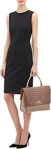 Givenchy Shark Medium Shoulder Handbag Crocodile Black Leather