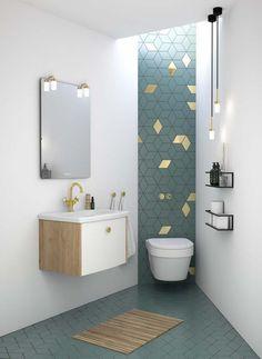 Complete badkamer in een beperkte ruimte - Voorlichtingsburo Wonen Washroom Design, Bathroom Design Small, Bathroom Interior Design, Modern Bathroom, Master Bathroom, Modern Toilet, Small Bathrooms, Bad Inspiration, Bathroom Inspiration