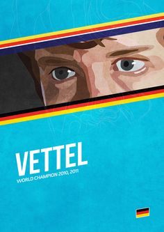 'Vettel' poster from the Grand Prix Champions series. #F1 #Vettel