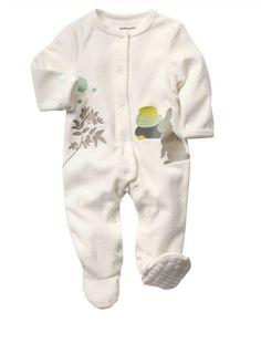 2b4061cbbdbd3 Pyjama velours bébé mixte BLANC CASSE - vertbaudet enfant Bébés Mixtes