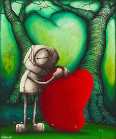 """Fabio Napoleoni-""""Who would I be without You """" - Limited Edition- 20"""" by 25""""- Canvas Giclee Print."""