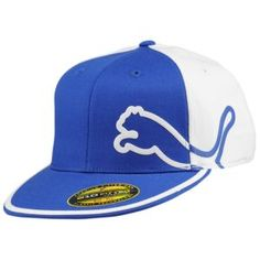 PUMA Monoline 210 Fitted Cap - Men's - Sport Inspired - Clothing - Royal/White