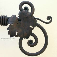 Shop our selection of exclusive Hand Forged Wrought Iron Curtain Rod Finials and Drapery Hardware available only at Paso Robles Ironworks Finials For Curtain Rods, Curtain Poles, Double Rod Curtains, Curtains With Rings, Copper Wire Jewelry, Wood Curtain, Blacksmith Projects, Iron Art, Drapery Hardware