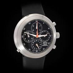 Ikepod Hemipod Chronograph Auto. Chronometer GMT in Steel. Marc Newson #Ikepod