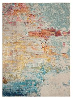 Area Rug - Nourison -100% Polypropylene, Power Loomed,  CELESTIAL CES02 SEALF - Inexpensive