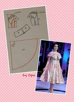 Dress iis dahlia pattern
