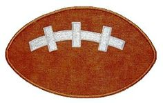 Football Applique - 3 Sizes! | Football | Machine Embroidery Designs | SWAKembroidery.com Kimberbell Kids