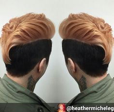 Two tone dyed shaved hair