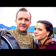 "Sebastian Roché's photo ""With the delightful @LanaParrilla @OnceABC #KingStefan #OUAT"" on WhoSay"
