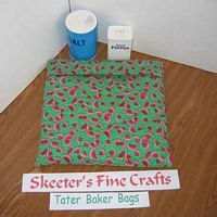 Watermelon Slices on Green Tater Baker Bag for Microwave