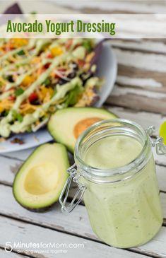 Avocado Yogurt Dressing from @Susan Caron & Janice (5 Minutes For Mom) #recipe #dressing