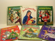 Mixed Lot of Vintage -Little Golden Books - Christmas Books- The Christmas Story, 1971 Frosty the Snowman, 1971 The Night Before Christmas  by ScrapPantry, $16.99 USD