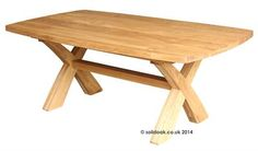 Made to Measure Solid Oak X leg Dining Table