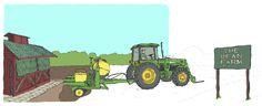 WACSO Heritage Wealth Management Website Illustration The Bean Farm http://joaniebrep.com/wacso-32/ #illustration #farm #tractor #barn