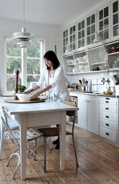 Raise upper cabinets add shelf below