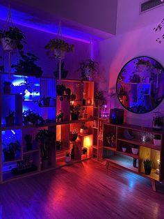 Neon Bedroom, Cute Bedroom Decor, Room Design Bedroom, Room Ideas Bedroom, Hippie Bedroom Decor, Neon Room Decor, Chill Room, Cozy Room, Indie Room