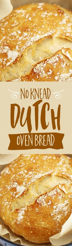 Baking beautiful (and delicious!) bread couldn't be easier with this no-knead Dutch oven artisan bread recipe.