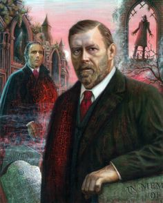 Portrait of Bram Stoker by Aidan Hickey ~ Commissioned for the 134th exhibition of the Dublin Painting and Sketching Club, 2012