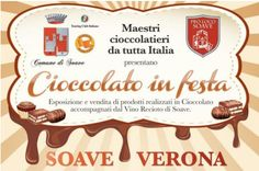 2014 Chocolando Chocolate Festival Oct. 10-12, in Soave, Via Roma, about 23 miles west of Vicenza. Free chocolate tasting and chocolate workshops in Via Roma, free jazz and blues concerts, exhibits, entertainment for children, and food booths.