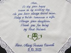 Personalized Wedding Handkerchief for your by elegantmonogramming, $24.00
