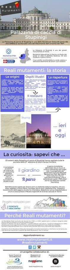 Palazzina di Caccia di Stupinigi nel Nichelino, Piemonte #realimutamenti #infografica