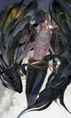 After quick transmigration through various worlds, she became the wife of the Male God. Fantasy Male, Dark Fantasy Art, Handsome Anime Guys, Cool Anime Guys, Hot Anime Boy, Touken Ranbu, Anime Cosplay, Manga Art, Manga Anime
