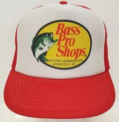 cb54900f098 Bass Pro Shop National Headquarter Springfield MO Red Mesh Trucker Snapback  Hat  Unbranded  TruckerHat