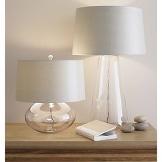 "Zak Table Lamp in Table, Desk Lamps | Crate and Barrel $249 Overall DimensionsHeight: 29.5"" Diameter: 18"" Base OnlyHeight: 22"" Diameter: 10"""