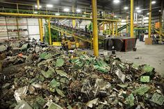 Tracing New York City's millions of pounds of e-waste from shelf to shredder E Waste Recycling, Recycling Plant, Old Computers, Electronic Recycling, New York City, Around The Worlds, Earth, Stock Photos, Towers