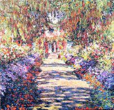 Claude Monet ~ Irises in Monet's Garden of Giverny ~ 1900     ᘡղbᘠ