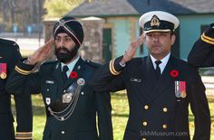 Lt. Manjeet Singh Vinning, British Columbia Regiment (Duke of Connaught's Own), Lt. Amardeep Singh, Navy, CFRC at the 2011 Sikh Remembrance Day Ceremony sponsored by SikhMuseum.com